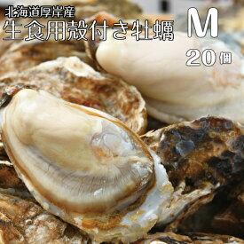 【マルえもん Mサイズ20個】北海道厚岸産本養殖牡蠣生食用