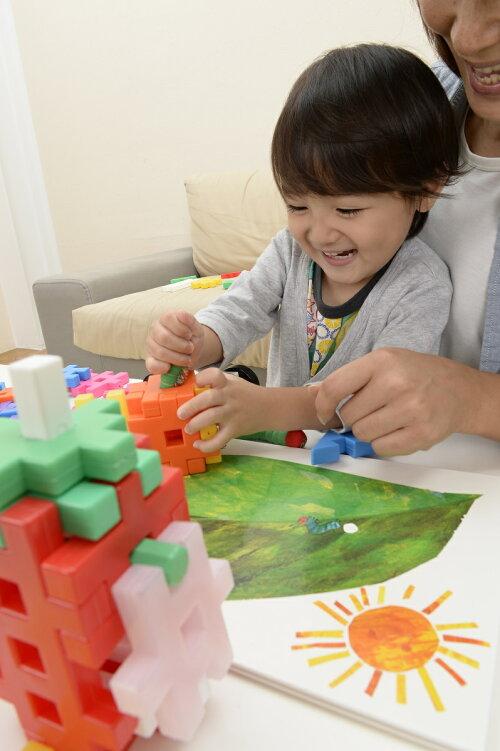 学研ブロックおもちゃ知育玩具ニューブロックはらぺこあおむしバッグ