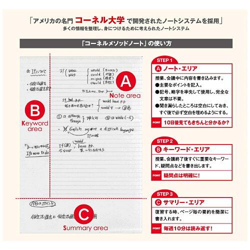 コーネルメソッドB5綴じノート(サックス罫)D02316学研ステイフル