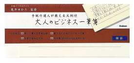 レターセット ビジネス 一筆箋 パックレター (横) CD04563 学研ステイフル