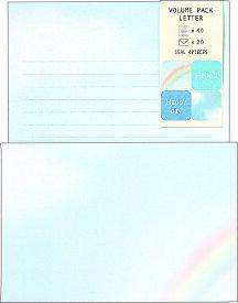 レターセット ボリューム パックレター (空と虹) BD04540 学研ステイフル