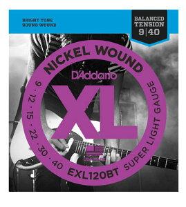 D'addario/エレキ弦 EXL120BT Balanced Tension【ダダリオ】【メール便OK】