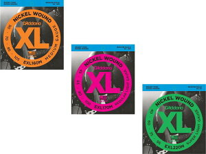 D'addario/ベース弦 XL Nickel Round Wound (Medium)【ダダリオ/EXL160M・EXL170M・EXL220M】【メール便OK】