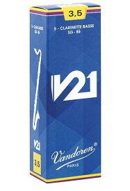 Vandoren/V21 バスクラリネット用リード(5枚入り)【バンドレン/バンドーレン】