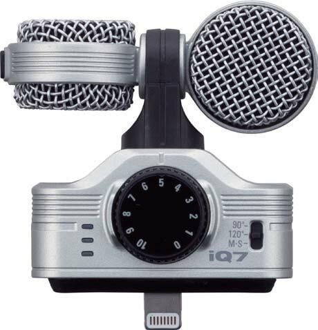 ZOOM/IQ7 MS Stereo Microphone / iPhone / iPad 用の高品質なステレオコンデンサマイク【ズーム】
