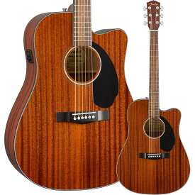 Fender CD-60SCE Dreadnought Walnut Fingerboard All-Mahogany【フェンダーエレアコ】