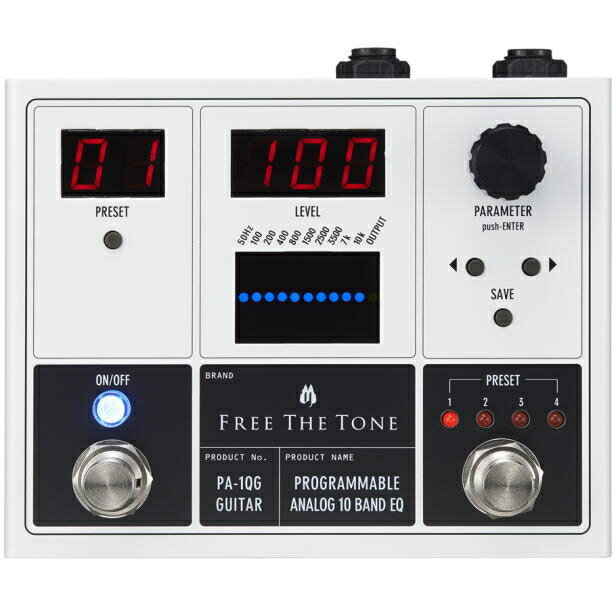 Free The Tone/PA-1QG PROGRAMMABLE ANALOG 10 BAND EQ ギター用イコライザー【フリーザトーン】