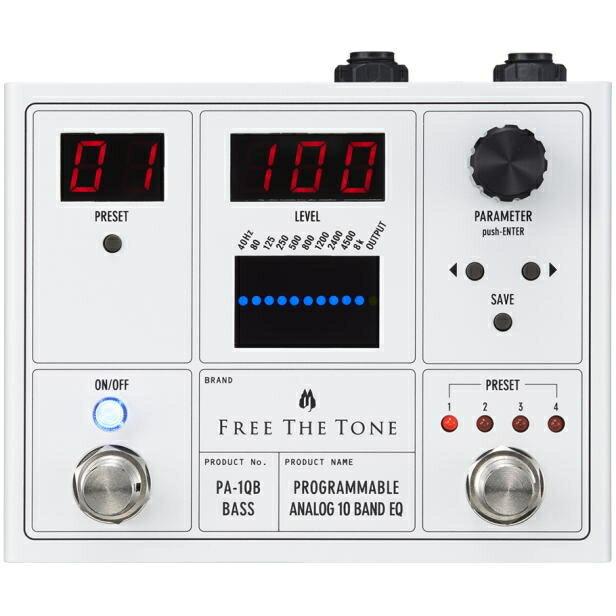 Free The Tone/PA-1QB PROGRAMMABLE ANALOG 10 BAND EQ ベース用イコライザー【フリーザトーン】