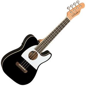 Fender ウクレレ Fullerton Tele Uke, Black【フェンダー】