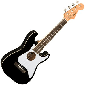 Fender ウクレレ Fullerton Strat Uke, Black【フェンダー】