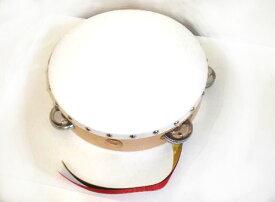 ヤマヨ タンバリン [タンブリン] 21 cm  (白) [タンバリンなら、やっぱり定番ヤマヨのタンバリン]