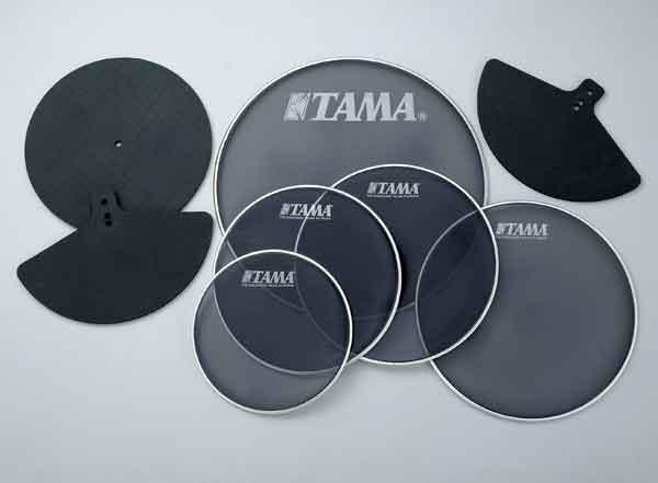 """TAMA[タマ] メッシュヘッド MH24B /24""""バスドラム用消音パッド"""