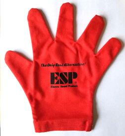 【メール便可】ESP クロス GLOVES CLOTH 手袋タイプギタークロスCL-8G 赤