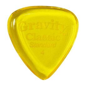 【メール便可能】GRAVITY GUITAR PICKS ピック クラシック・スタンダード[4.0mm, Yellow]高級