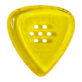 【メール便可能】GRAVITY GUITAR PICKS ピック クラシック・スタンダード マルチホール [4.0 mm with Multi-Hole, Yellow]高級