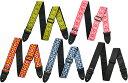 [ メール便 対応可 ] ギターストラップ ジャガード織りタイプ かわいい レトロなストラップ 70年代を彷彿させる 花柄風 刺繍 Guitar Bass St...