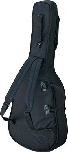 フォークギター クラシックギター 兼用 リュックタイプ ギターケース CF-100 フォークサイズ アコースティックギター用 ケース OOOサイズ他 ブラック アコギ ソフトケース