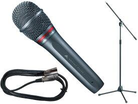 audio-technica ( オーディオテクニカ ) AE6100 TAMAブラックマイクスタンドSET (XLR-XLR) [ 送料無料 ]