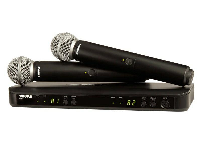 SHURE ( シュア ) BLX288/SM58 ◆ デュアルチャンネル ハンドヘルド型 ワイヤレスシステム【BLX288J/SM58-JB】【キャッシュバック対象 】 [ ワイヤレスシステム 関連商品 ][ 送料無料 ]