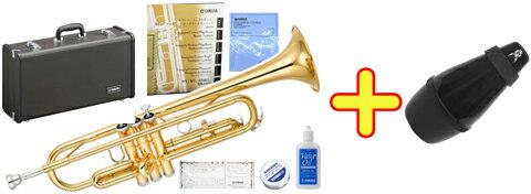 【日本製分】 YAMAHA ( ヤマハ ) YTR-2330 トランペット 新品 管体 ゴールド イエローブラス ベル 管楽器 B♭ 本体 ケース マウスピース 【 YTR2330 サイレンサー SET 】 送料無料