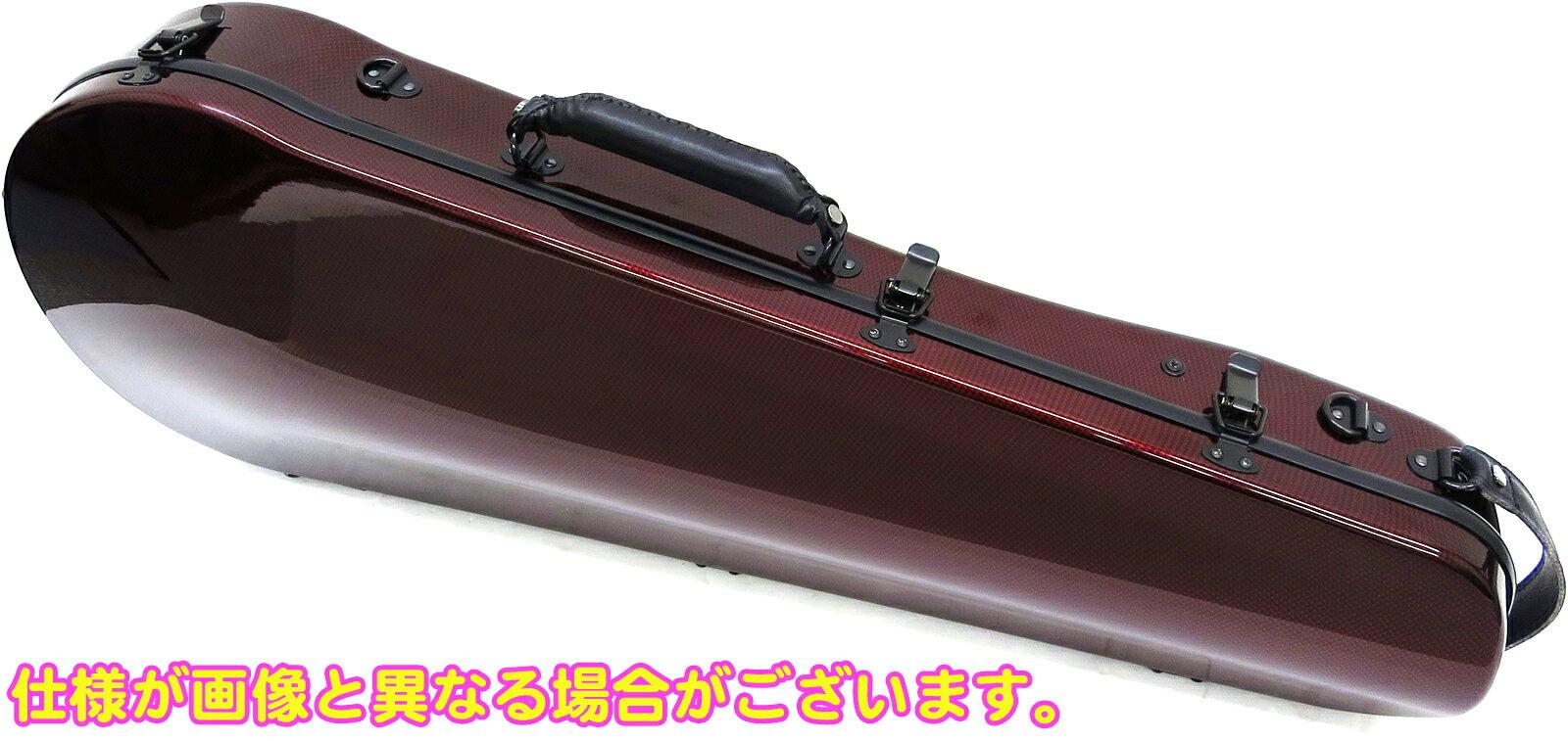 ビオラケース リュックタイプ 4/4サイズ 軽量 カーボンファイバー製 ハードケース カラー レッド ビオラ用 ケース 【 viola cases RED 】 送料無料
