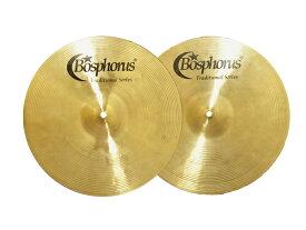 """Bosphorus ( ボスフォラス ) Traditional Series BRIGHT HI-HATS 14"""" (PAIR) トラディショナル ブライトハイハット ドラム・シンバル"""