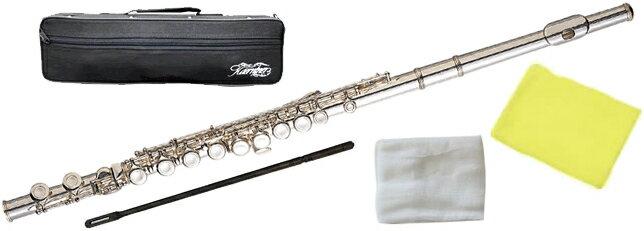Kaerntner ( ケルントナー ) 送料無料 銀メッキ フルート KFL-28 新品 Eメカニズム付き 初心者 書き 管体 カバードキイ C管 頭部管 主管 足部管 管楽器 Flute Silver KFL28