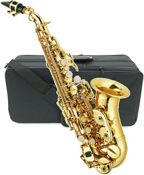 J Michael ( Jマイケル ) SPC-700 カーブドソプラノサックス 新品 アウトレット 管楽器 ソプラノサクソフォン カーブドネック サックス 管体 ゴールド 初心者 楽器 送料無料