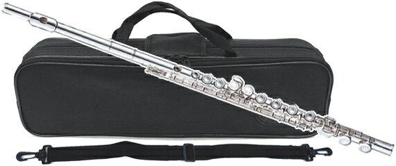 Fl-300S 新品 アウトレット 銀メッキ フルート 初心者 管楽器 C管 カバードキイ 本体 頭部管 主管 足部管 シルバーメッキ ケース付き 楽器 FLUTE -300S