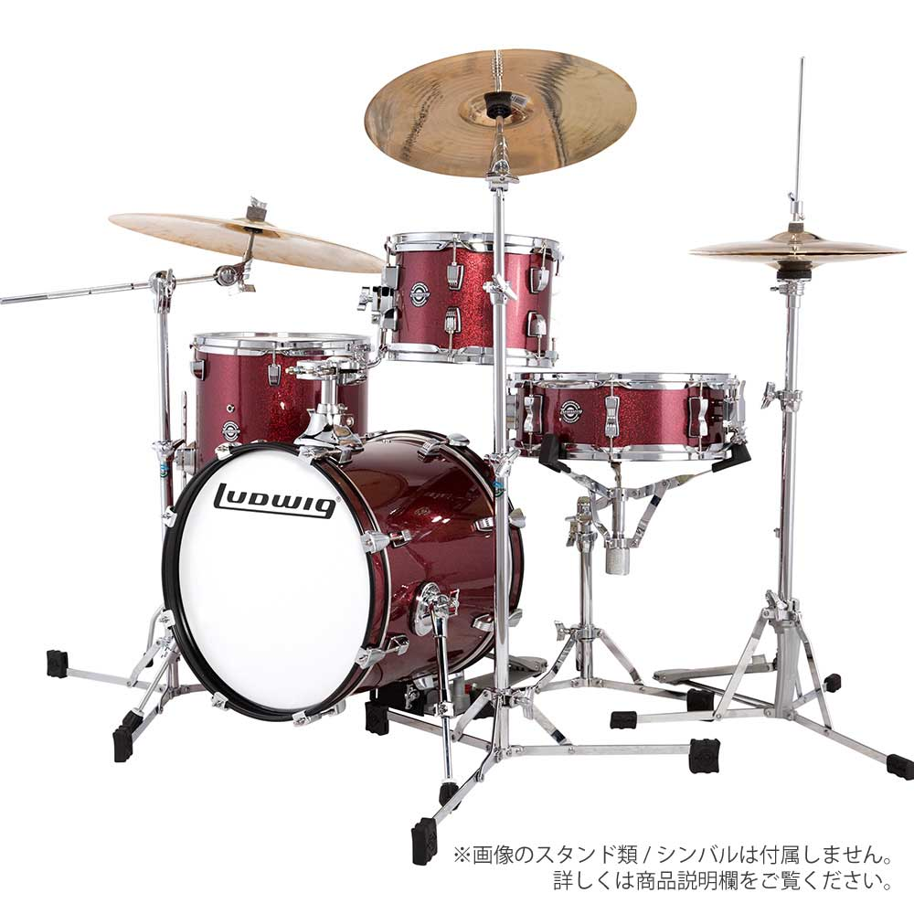 LUDWIG ( ラディック ) LC179X 025 WINE RED SPARKLE【ブレイクビーツ 小口径 ドラムセット】 BREAK BEATS