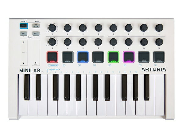 Arturia ( アートリア ) MINILAB MK 2【取り寄せ商品/受注後納期確認】 ◆【 送料無料 】【 MIDIコントローラー 】【 DTM 】【 DAW 】