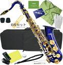 送料無料 テナーサックス ブルー 新品 管楽器 本体 BLUE カラー サックス ケース 初心者 楽器 テナーサクソフォン 【 T-90 青色 セット…
