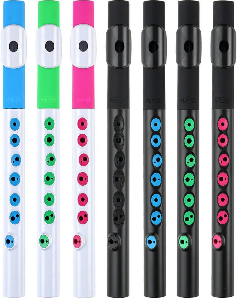 NUVO ( ヌーボ ) TooT トゥート プラスチック 横笛 楽器 C調 こども おもちゃ フルート 初心者 練習用 カラー ホワイト ブラック ピンク ブルー グリーン