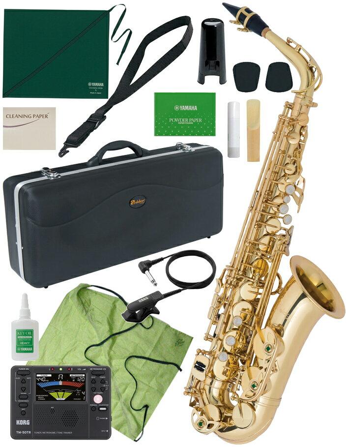 【予約】 Antigua ( アンティグア ) eldon アルトサクソフォン 初心者 管楽器 サックス 管体 ゴールド E♭ 楽器 KORG TM-50TR セット 【 エルドン アルトサックス セットB】 送料無料