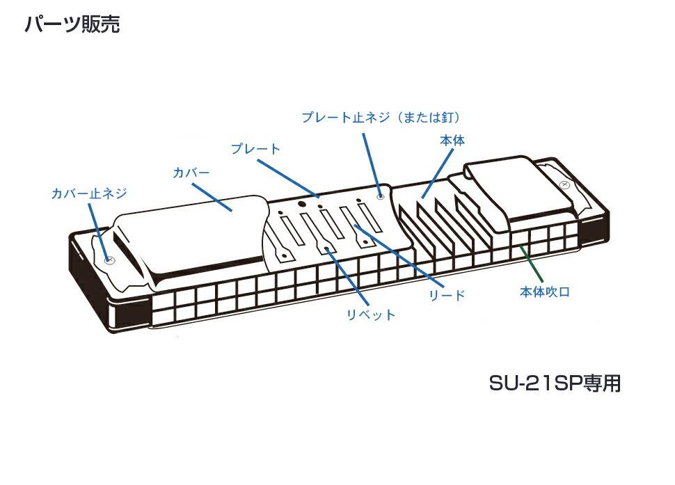 [ メール便 対応可 ] SUZUKI ( スズキ ) SU-21SP カバープレート 止めネジ 6本 + ネジの受け ナット 6個 複音ハーモニカ 3本分 パーツ 楽器 修理 ハーモニカ 部品 ネジ 【SU21SPネジ】