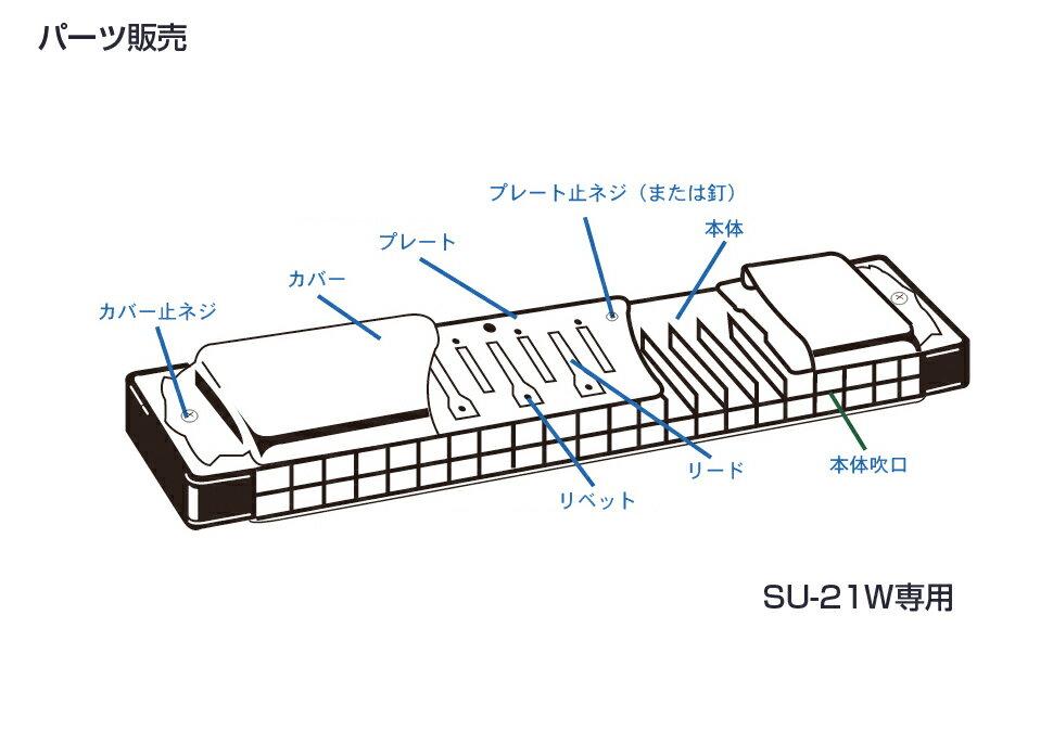 [ メール便 対応可 ] SUZUKI ( スズキ ) SU-21W カバープレート 止めネジ 6本 + ネジの受け ナット 6個 複音ハーモニカ 3本分 パーツ 楽器 修理 ハーモニカ 部品 ネジ 【SU21Wネジ】