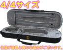 4/4サイズ バイオリン用ケース 角型 弦楽器 リュックタイプ ケース バイオリン セミハードケース ブラック 楽器 収納 …