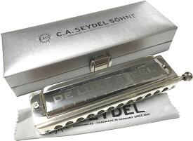 Seydel ( サイドル ) ステンレスリード クロマチックハーモニカ De Luxe STEEL 12穴 3オクターブ 透明 オレンジ 樹脂ボディ デラックス スチール C調 ドイツ製 54480C