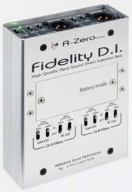 Enfini Custom Works ( アフィニカスタムワークス ) Fidelity D.I.【ハイクオリティ 2チャンネル DI KH】 スタジオクオリティ アコースティックギター用