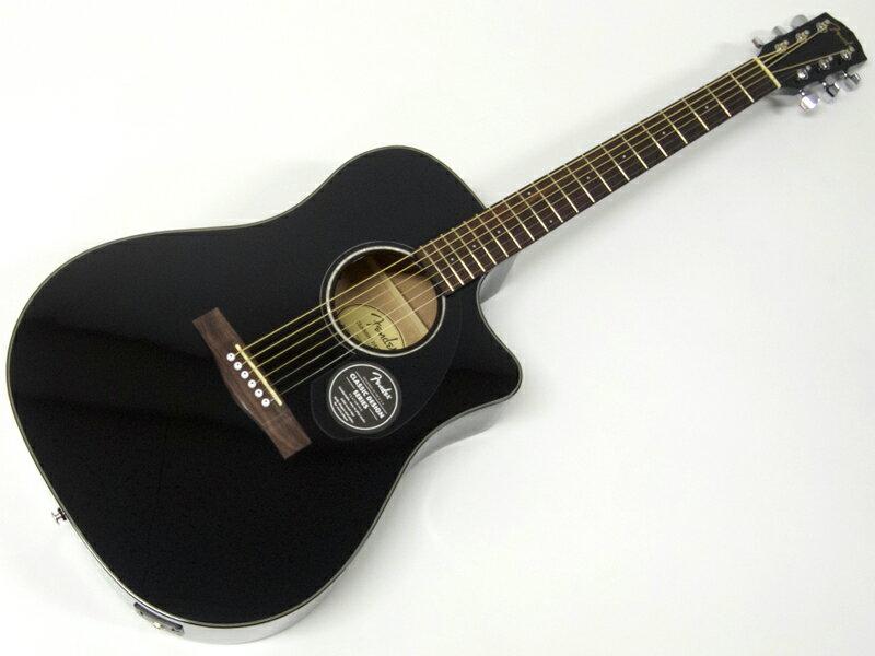 Fender ( フェンダー ) CD-60SCE(BLK)【アコースティックギター エレアコ 】【970113006】【クリップチューナー プレゼント! 】 アコースティックギター