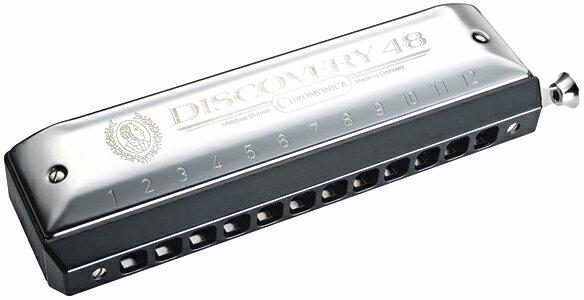 HOHNER ( ホーナー ) アウトレット Discovery 48 クロマチックハーモニカ ディスカバリー48 C調 12穴 スライド式 ハーモニカ 7542/48 3オクターブ 初心者 樹脂製 送料無料