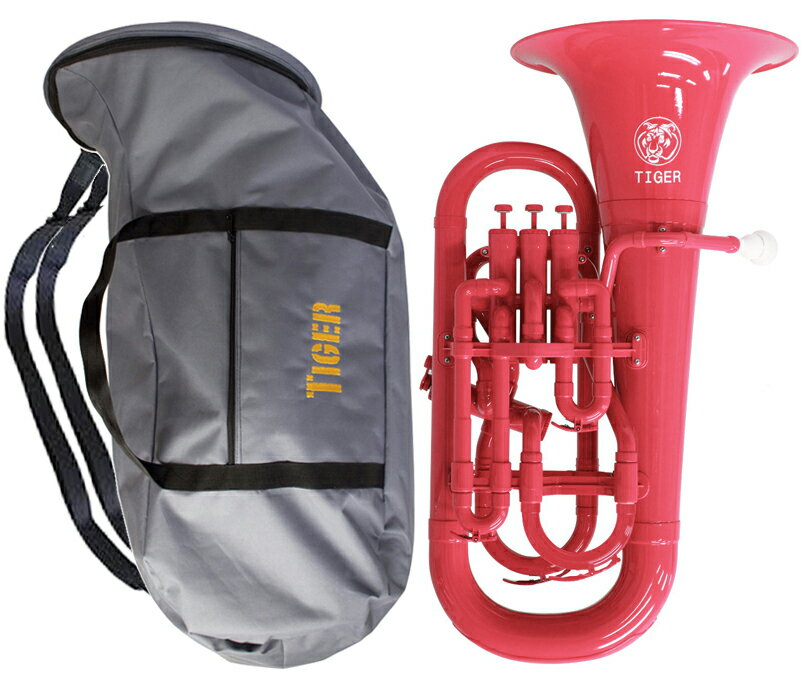 Tiger ( タイガー ) 【予約】 ユーフォニアム EU-03 ピンク 調整品 新品 アウトレット 4ピストン プラスチック製 B♭ 本体 管楽器 樹脂製 【 EU03 pink 楽器 】 送料無料 (一部例外地域あり)