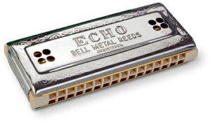 HOHNER ( ホーナー ) 【 C/G調 】 Echo-Harp 2×32 トレモロハーモニカ 54/64 エコーハープ 複音ハーモニカ 16穴 ハーモニカ メープルボディ Tremoro Harmonica