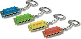 【今だけメール便のみ送料無料 保証なし】 HOHNER ( ホーナー ) 【 ミニハープ 4色 セット 】 ミニカラーハーモニカ キーホルダー 4穴 1オクターブ ブルースハープ型 アクセサリー Blue Red Yellow Green ハープ 4個