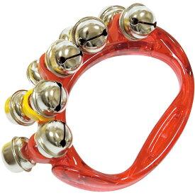 HB500 リングベル レッド 1個 振る 楽器 鈴 ジングルベル リングタイプ ハンドベル こども スズ ベル パーカッション HB-500 RED Ring bell