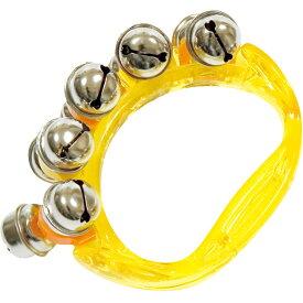 HB500 リングベル イエロー 1個 振る 楽器 鈴 ジングルベル リングタイプ ハンドベル こども スズ ベル パーカッション HB-500 yellow Ring bell