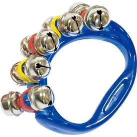 HB500 リングベル ブルー 1個 振る 楽器 鈴 ジングルベル リングタイプ ハンドベル こども スズ ベル パーカッション HB-500 blue Ring bell