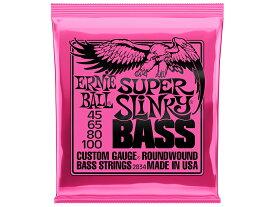 ERNIE BALL ( アーニーボール ) 2834 ベース弦 ロングスケール 45-100 ロングスケール用 ベースギター弦 SUPER SLINKY CUSTOM GAUGE BASS STRINGS ROUNDWOUND MADE IN USA ニッケル ワウンド エレキベース弦 交換弦