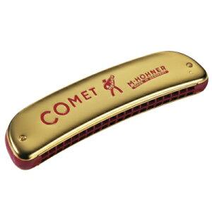 HOHNER ( ホーナー ) 【 C調 】 Comet 40 2504/40 オクターブハーモニカ コメット40 20穴 複音ハーモニカ octave tuned harmonica ゴールド仕上げ 樹脂ボディ