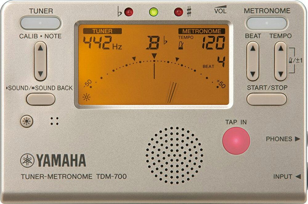 YAMAHA ( ヤマハ ) TDM-700G ゴールド チューナーメトロノーム クロマチックチューナー 管楽器 ピッチ テンポ 吹奏楽 基礎トレーニング metronome tuner TDM-700 gold